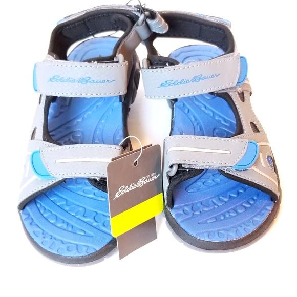 2b065d231e6 Eddie Bauer Boys River Sandals NWT Sz 13Y